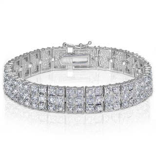 Diamond 1ct TDW Miracle Set 3-Row Tennis Bracelet