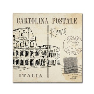 Anne Tavoletti 'Postcard Sketches IV' Canvas Art