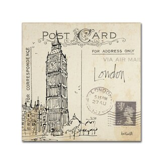 Anne Tavoletti 'Postcard Sketches II' Canvas Art