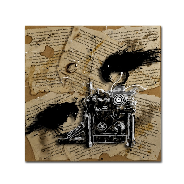 Roderick Stevens 'Quoth the Raven 1' Canvas Art
