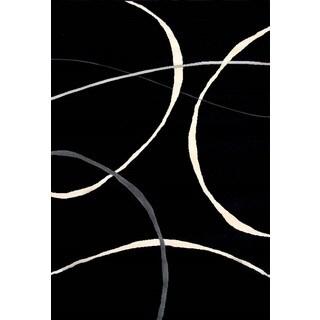 Greyson Living Venus Black/ Creme Olefin Area Rug (7'10 x 10'6)