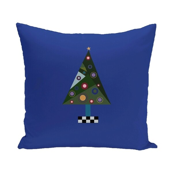 Blue/ Red/ Green/ Purple Decorative Holiday Pattern 18-inch Pillow