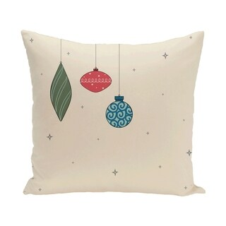 White Decorative Holiday 18-inch Pillow