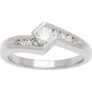 Boston Bay Diamonds 14k White Gold 3/8ct TDW Diamond Engagement Ring (H-I, SI2-I1)