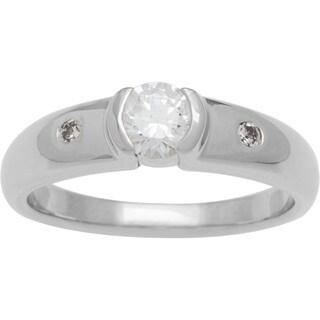 Boston Bay Diamonds 14k White Gold 1/2ct TDW Contemporary Diamond Engagement Ring (G-H, SI1-SI2)