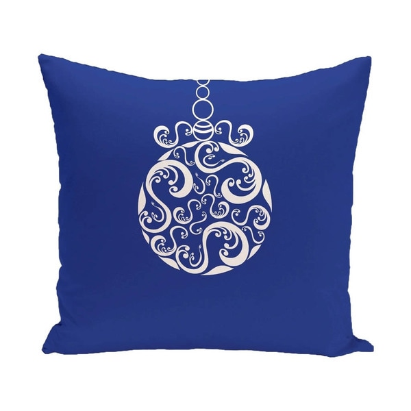 Blue/ Red/ Grey/ Green Decorative Holiday Print 18-inch Pillow 15564767