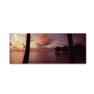 David Evans 'New Day-Maldives' Canvas Art