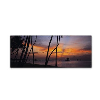 David Evans 'Last Light-Maldives' Canvas Art