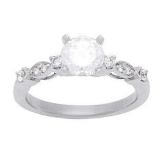 Boston Bay Diamonds 14k White Gold 1 1/5ct TDW Diamond Milgrain Engagement Ring (G-H, SI1-SI2)