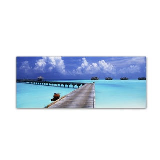 David Evans 'Into the Blue-Maldives' Canvas Art