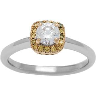 Boston Bay Diamonds 14k Gold 5/8ct TDW White and Yellow Diamond Engagement Ring (G-H, SI1-SI2)