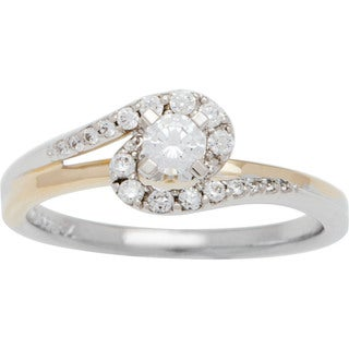 14k Two-tone Gold 1/3ct TDW Diamond Engagement Ring (H-I, SI2-I1)
