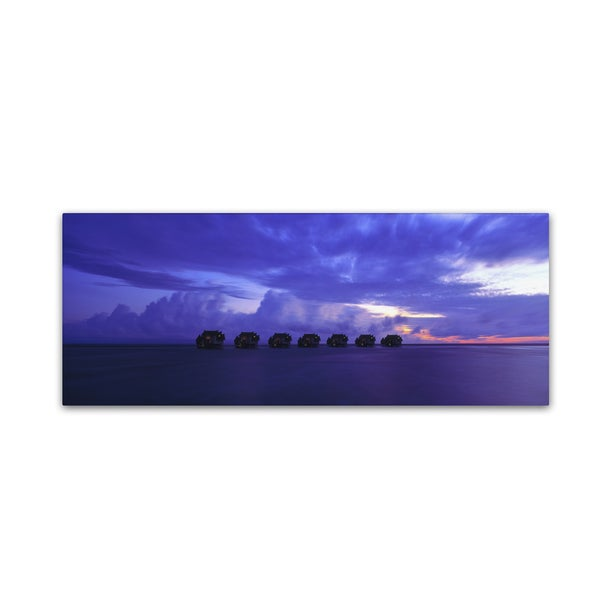 David Evans 'End of Day-Maldives' Canvas Art