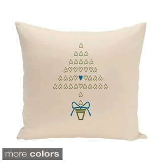 White Holiday 26-inch Decorative Pillow