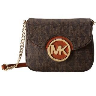 Michael Kors Fulton Brown Logo Small Crossbody Handbag