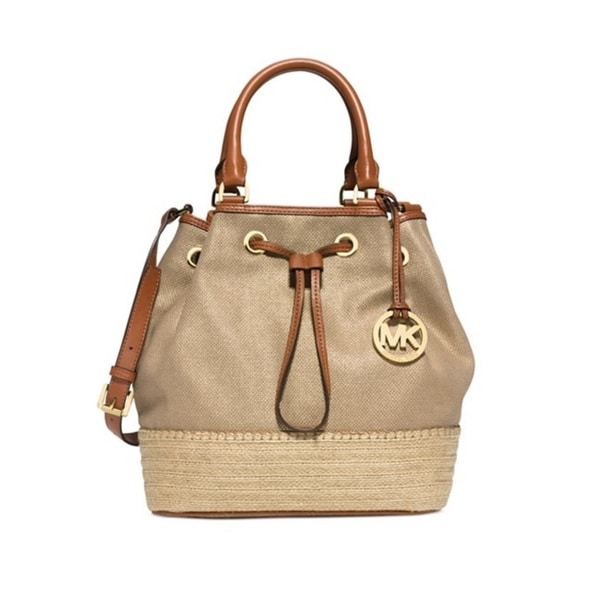 MICHAEL Michael Kors Marina Espadrille Large Canvas Shoulder Tote - Gold