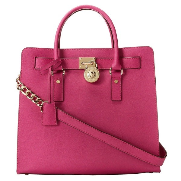 MICHAEL Michael Kors Hamilton Large North/South Tote - Fuschia