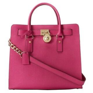 Michael Kors Hamilton Fuschia Large North/South Tote Handbag