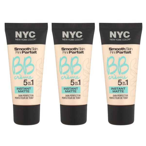 N.Y.C. New York Color BB Creme Foundation Matte (Pack of 3)