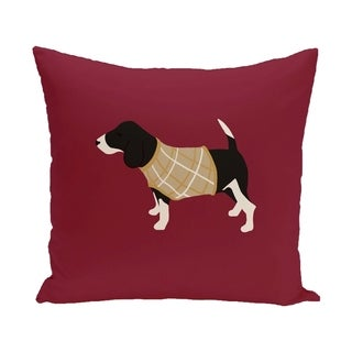 Red Decorative Holiday Animal 20-inch Accent Pillow