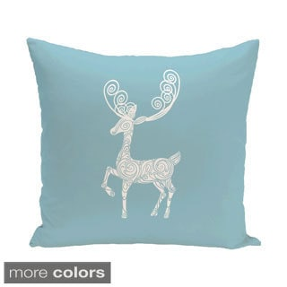 Blue/ Red/ Grey/ Green Decorative Holiday Animal Print 20-inch Pillow