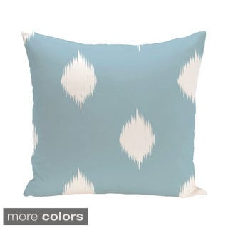 Blue/ Red/ Green/ Purple Decorative Holiday Ikat Print 20-inch Pillow