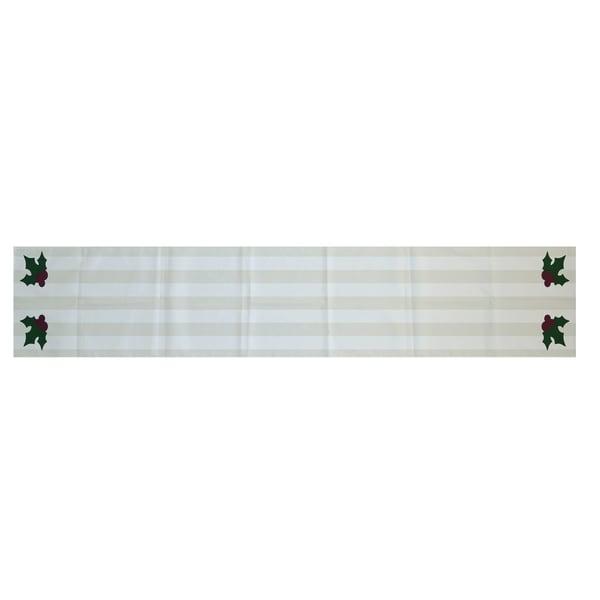 16 Stripe  inch Decorative 16 Runner Print Holiday White x 72 Table runner table 72 x