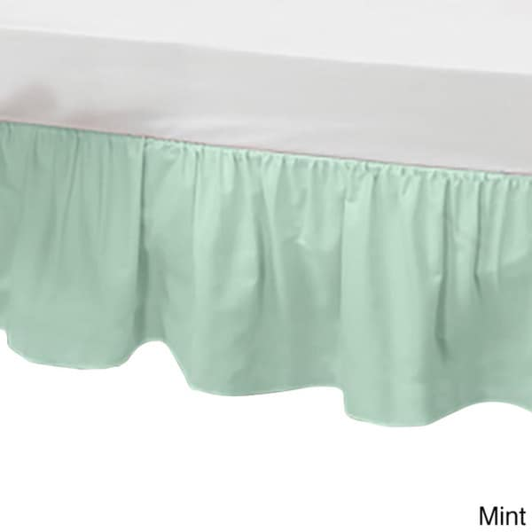 Baby Doll Solid Color Crib Skirt