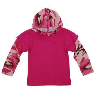 Artisans Apparel Girls' Pink Thermal Camo Top