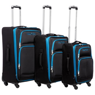 Nautica Bay Breeze Blue/Juniper Green 4-piece Spinner Luggage Set