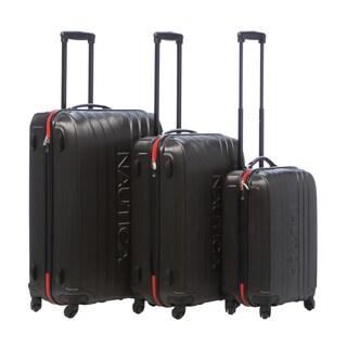 Nautica True Winds Gunmetal/Mack Orange 3-piece Set Hardside Spinner Luggage Set