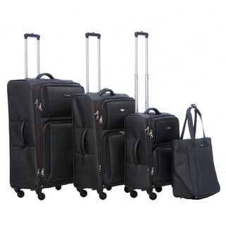 Nine West Aleigh Charcoal/Light Grey 4-piece Spinner Luggage Set