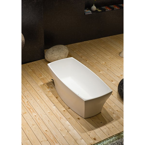 Aquatica Elise White Freestanding AquaStone Bathtub