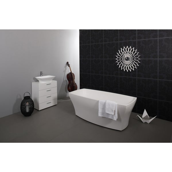 Aquatica Elise White Freestanding AquaStone Bathtub
