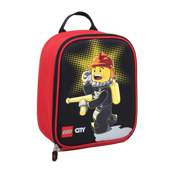 Lego City Fire Chief Vertical Lunch Tote