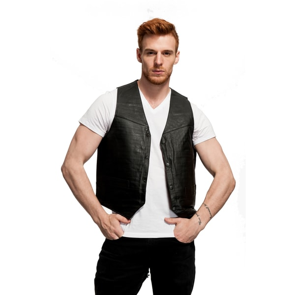 Motorcycle USA Leather Vest 15567073