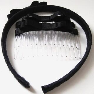 Crawford Corner Shop Black Half An Inch Headband & Hair Comb Set