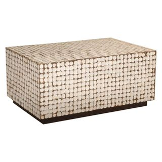 Decorative Estill White Rectangle Coffee Table