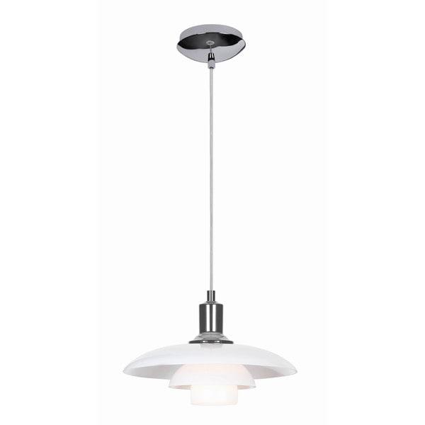 Hans Andersen Home Herlev White/Chrome Pendant Lamp
