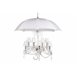 Hans Andersen Home White Umbrella Chandelier