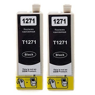 127 T127 Ink for Epson Stylus NX530 NX625 WorkForce 3520 635 3530 3540 7010 645 7510 7520 60 840 545 630 633 845 (Pack of 2)