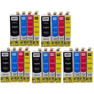 127 T127 Ink for Epson Stylus NX530 NX625 WorkForce 3520 635 3530 3540 7010 645 7510 7520 60 840 545 630 633 845 (20-pack)