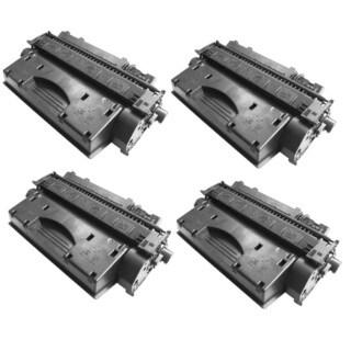Replacing CE505X 505X Toner Cartridge for HP LaserJet P2050 P2055 P2055d P2055x P2055dn Printers (Pack of 4)