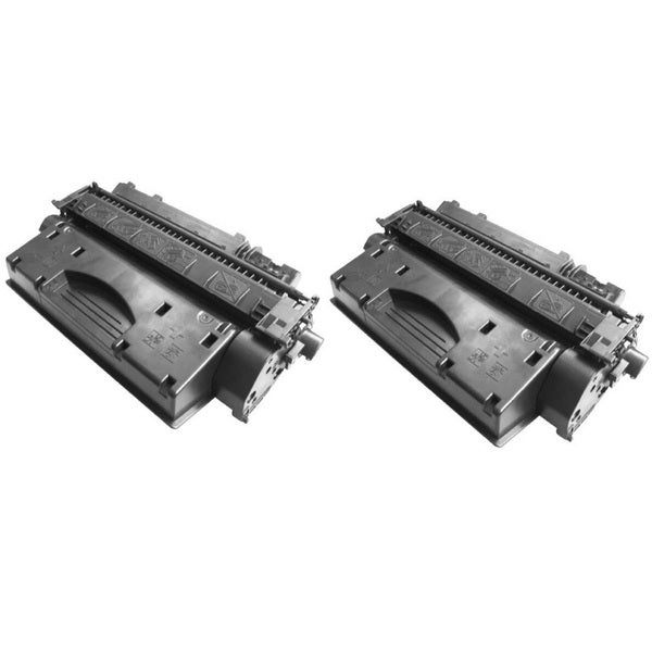 Replacing CE505X 505X Toner Cartridge for HP LaserJet P2050 P2055 P2055d P2055x P2055dn Printers (Pack of 2)