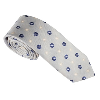 Elie Balleh Milano Italy Geometric Embroidered Neck Tie