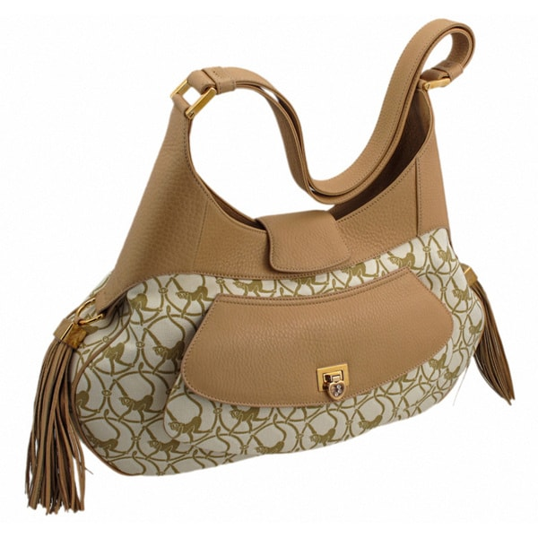 Chopard Mardrid Beige and Camel-Colored Calfskin Leather Bag