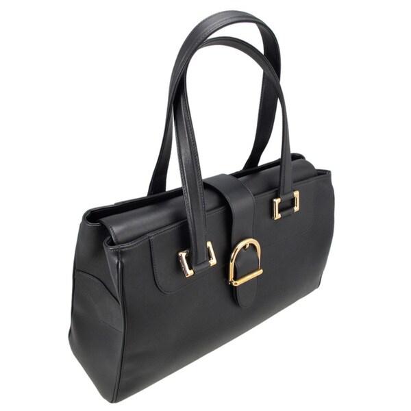 Chopard Praga Classica Black Leather Handbag