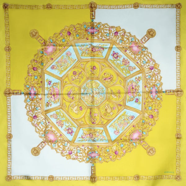 Versace Golden Square Silk Scarf