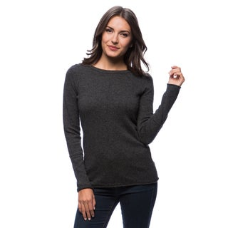 Premise Long Sleeve Jersey Boat Neck Cashmere Pullover