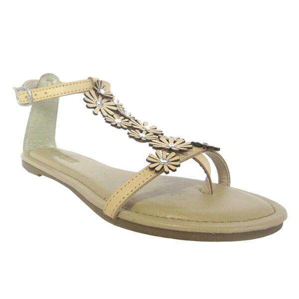 Olivia Miller 'Daisy' Multi Floral Rhinestones Sandals